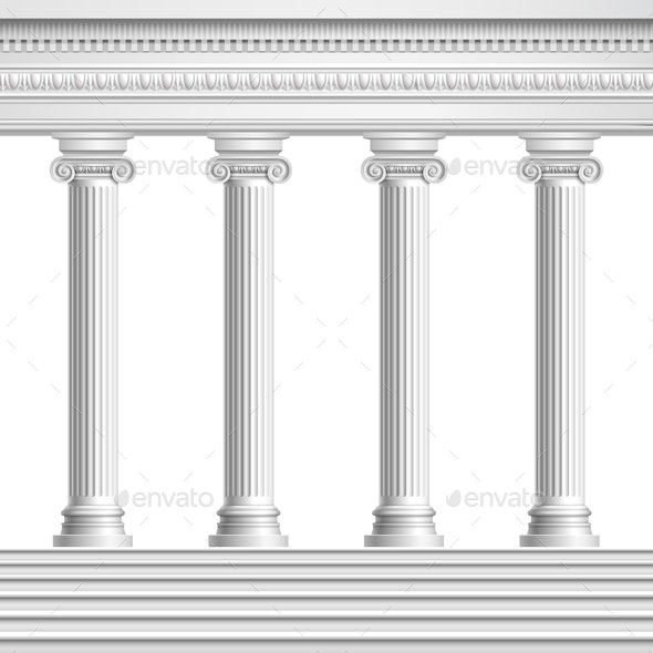 Realistic Antique Columns - Buildings Objects