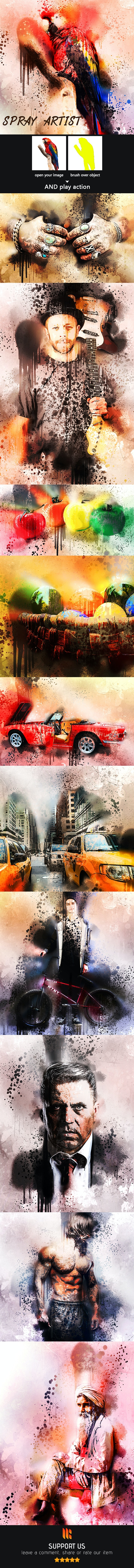 Spray Artist Photoshop Action - Photo Effects Actions