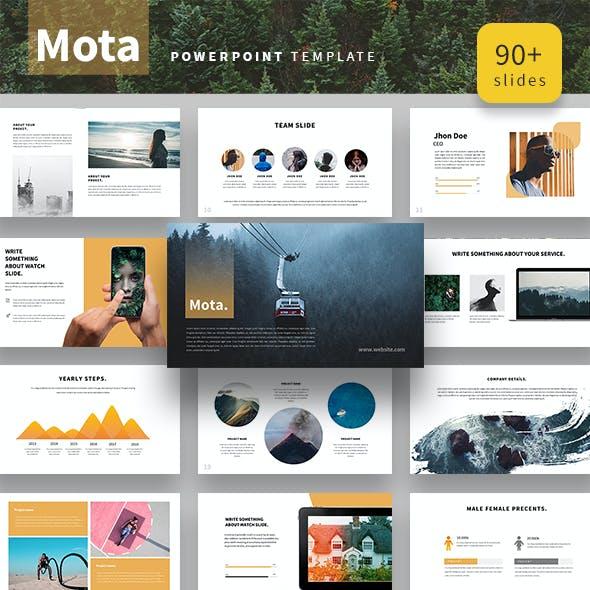 Mota Powerpoint Presentation Template