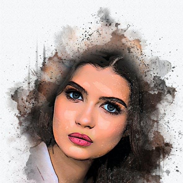 Advance Watercolor Photoshop Action