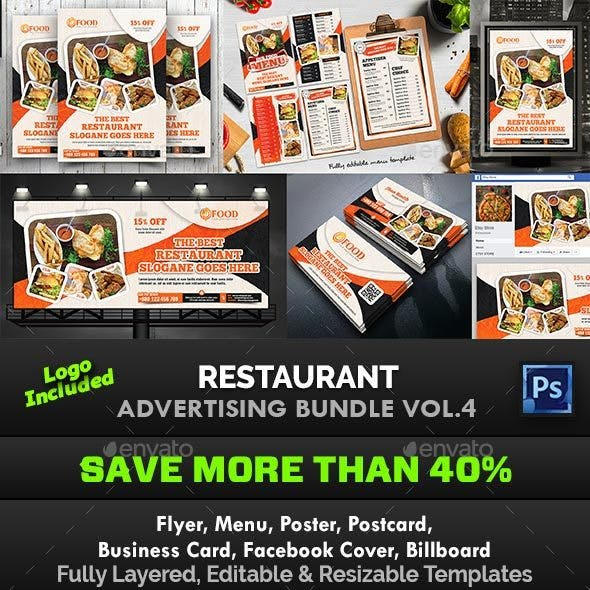 Restaurant Advertising Bundle Vol.4