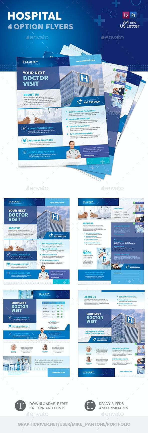 Hospital Flyers 2 – 4 Options - Corporate Flyers