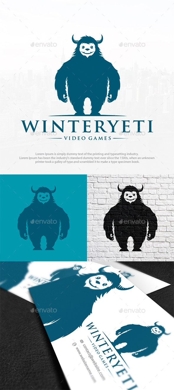 Yeti Monster Logo Template - Animals Logo Templates