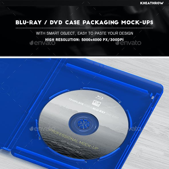 Blu-ray / DVD Case Packaging Mock-Ups