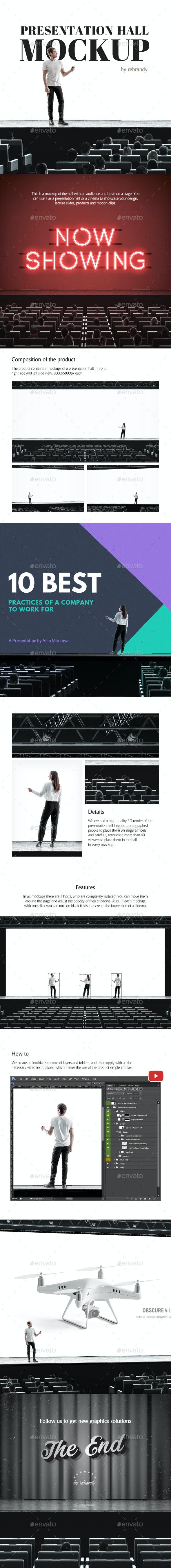 Presentation Hall Mockup - Product Mock-Ups Graphics