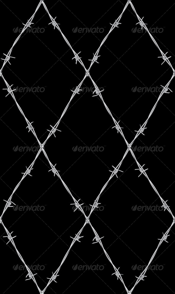 Seamless barbed wire pattern - Backgrounds Decorative