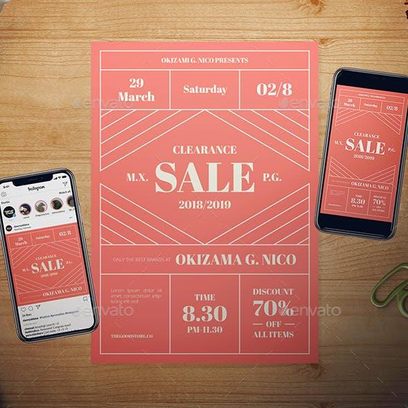 LIving Coral Sale Flyer Set