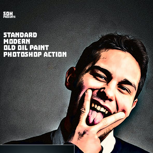Standard Modern Old Oil Paint Photoshop Action