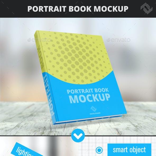 Portrait Hard Cover Book Mockup