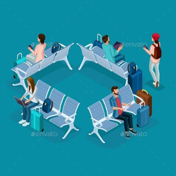 Trendy People Isometric Vector 3D Teenager - Business Conceptual