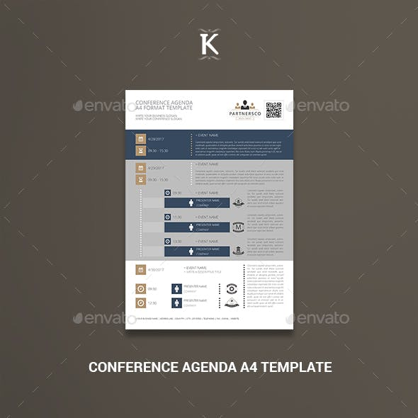 Conference Agenda A4 Template