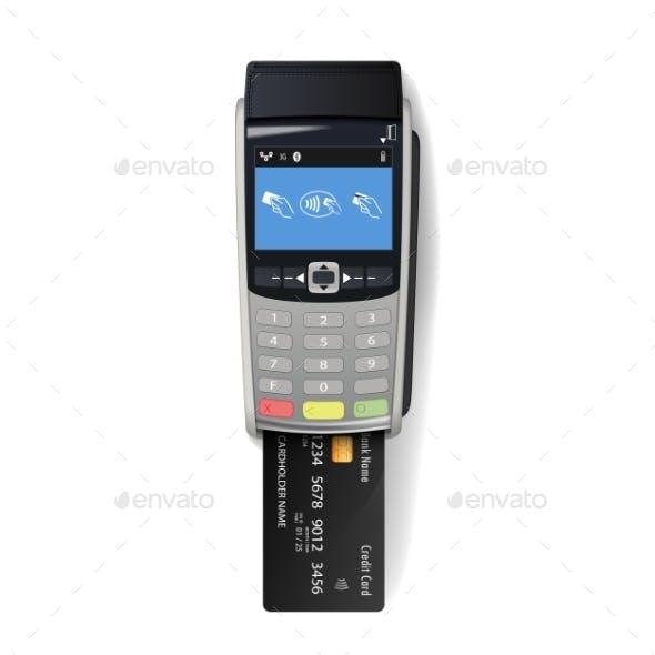 POS Terminal with Credit Card