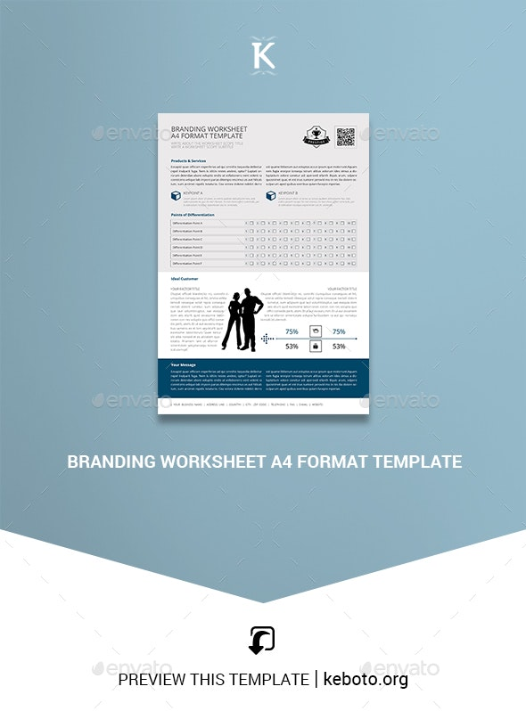 Branding Worksheet A4 Format Template - Miscellaneous Print Templates