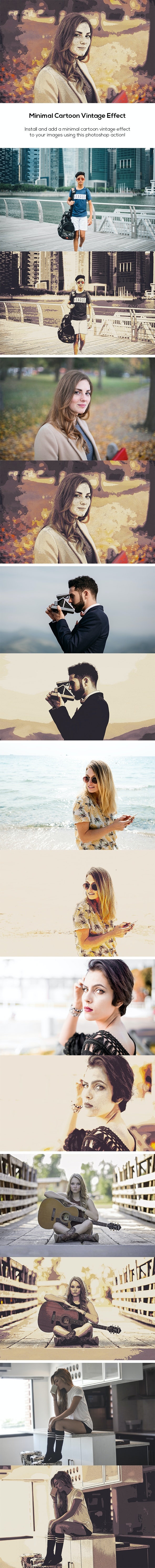 Minimal Cartoon Vintage Effect - Photo Effects Actions