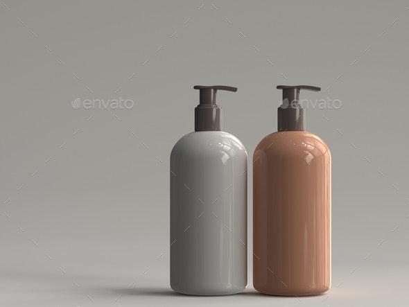 3D Rendered Pump Bottle 02 - Objects 3D Renders