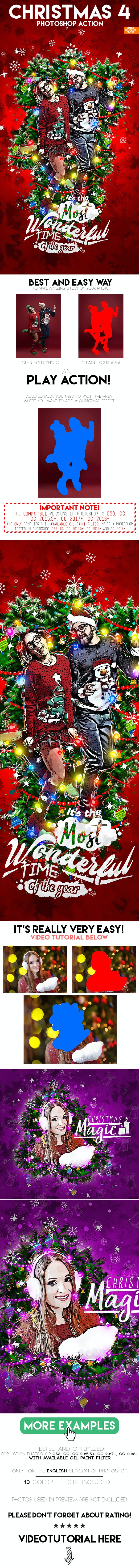 Christmas 4 Photoshop Action - Photo Effects Actions