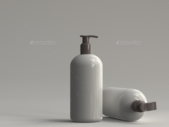 3D Rendered Pump Bottle 03 - Objects 3D Renders