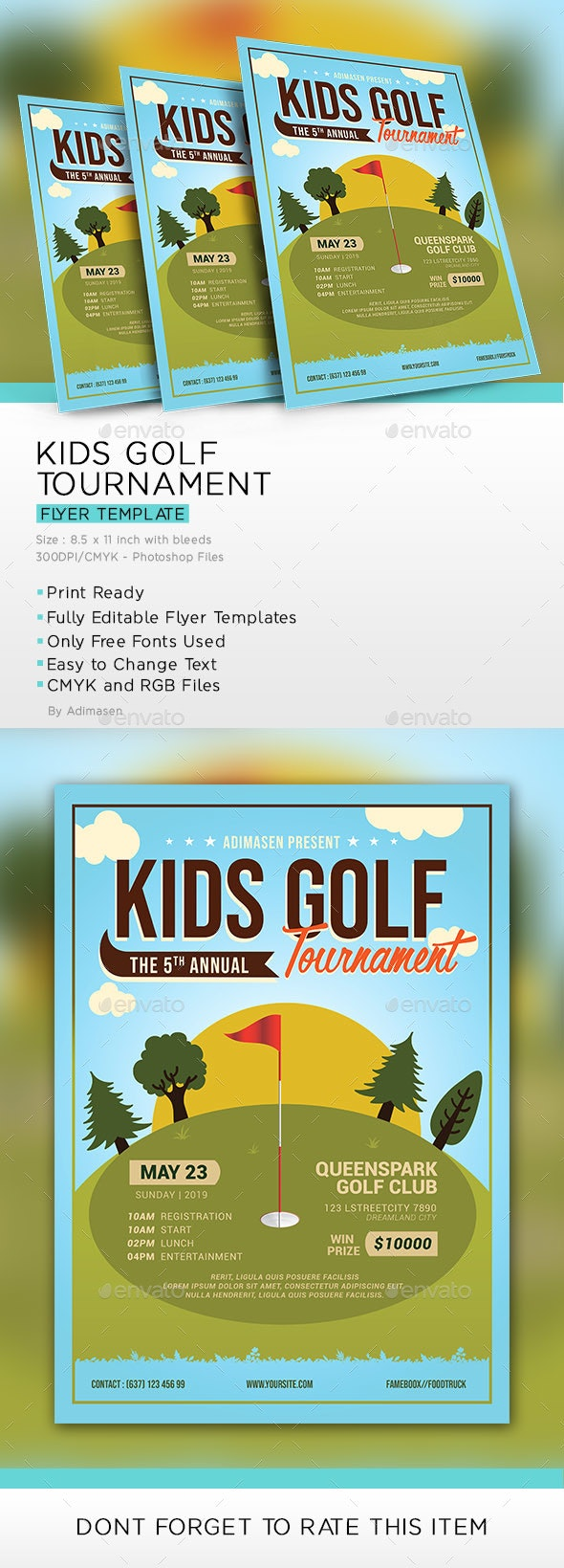 Kids Golf Tournament Flyer - Events Flyers