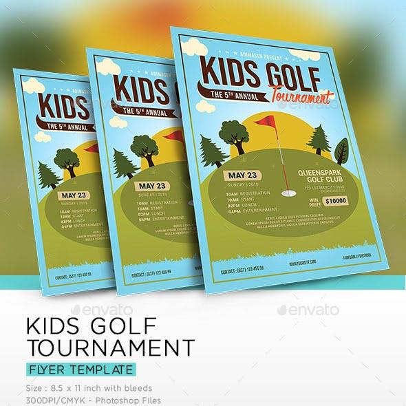 Kids Golf Tournament Flyer