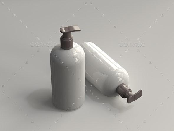 3D Rendered Pump Bottle 04 - Objects 3D Renders