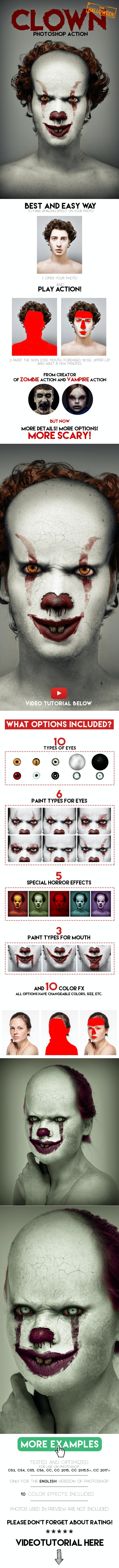 Clown Photoshop Action - Photo Effects Actions