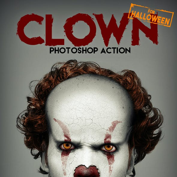 Clown Photoshop Action