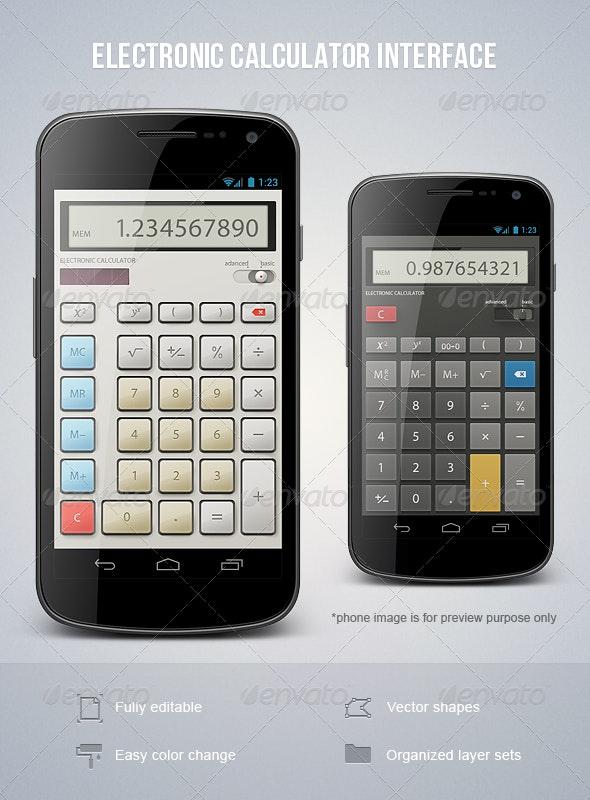 Electronic Calculator Interface