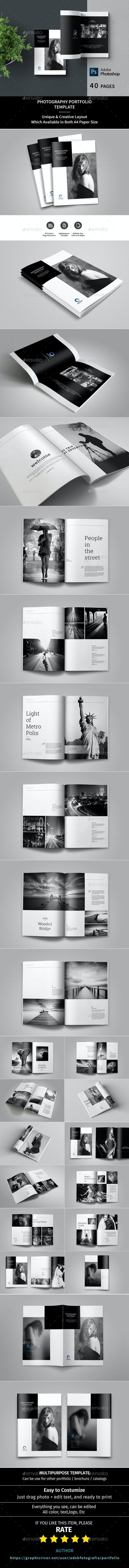 Portfolio Photographer - Photo Albums Print Templates