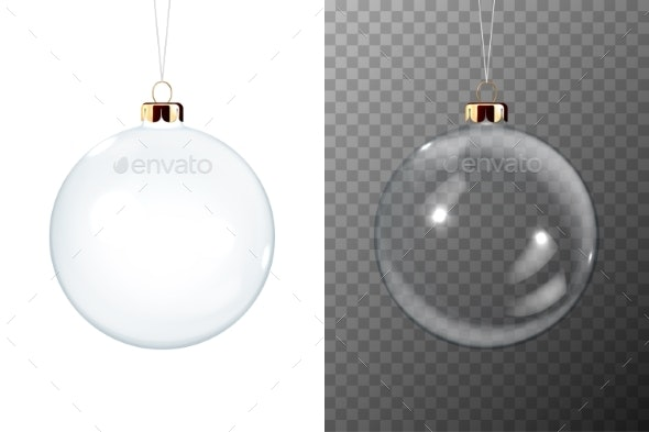 Vector Realistic Christmas Transparent Glossy - Man-made Objects Objects