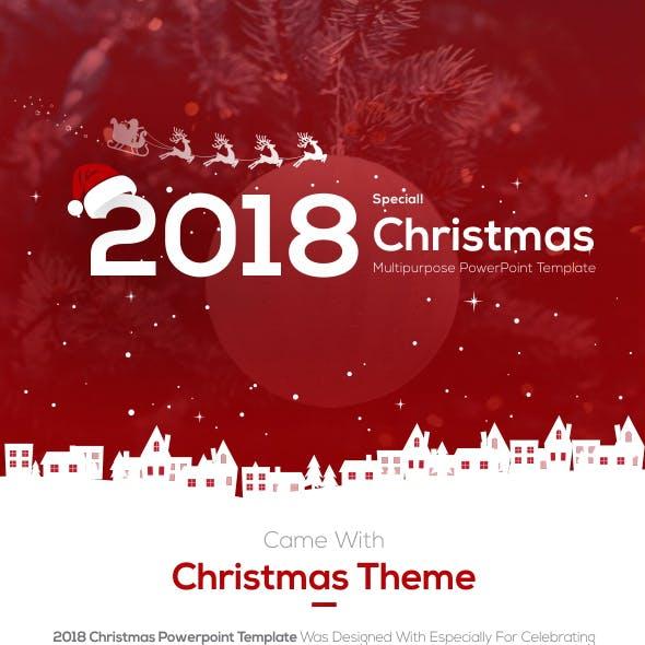 2018 Christmas Multipurpose Portrait Presentation Template