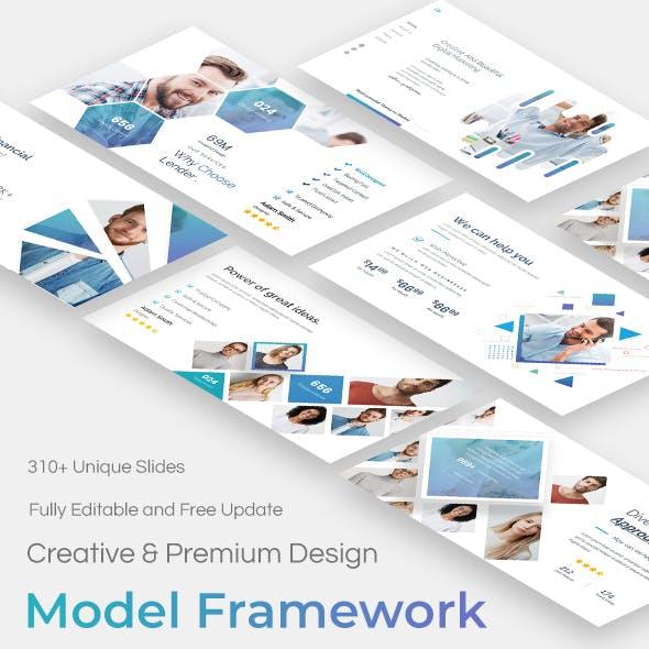 Model Framework Pitch Deck Powerpoint Template