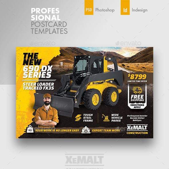 Construction Postcard Templates