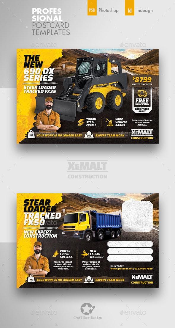 Construction Postcard Templates - Cards & Invites Print Templates