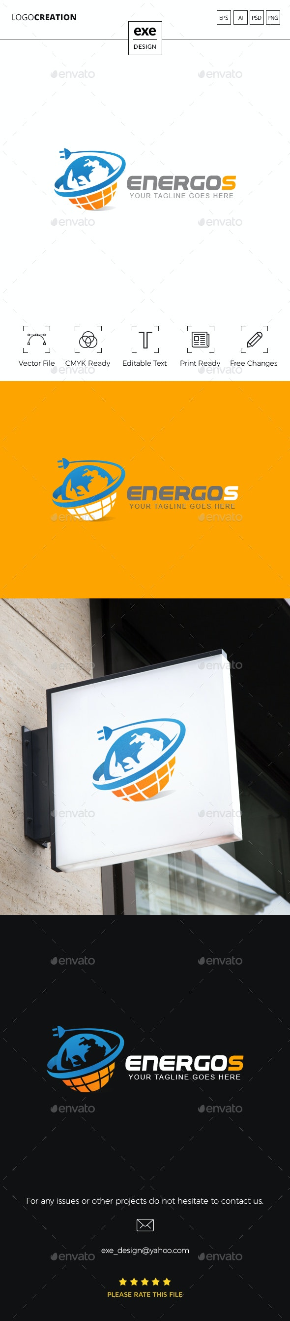 Energy Planet Logo - Vector Abstract