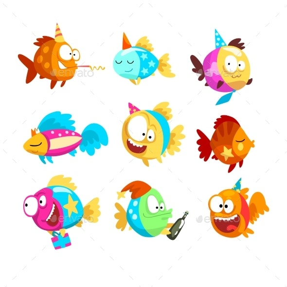 Fishes Set - Animals Characters