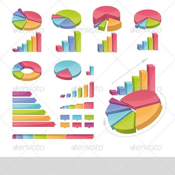Set Of Coloured Charts