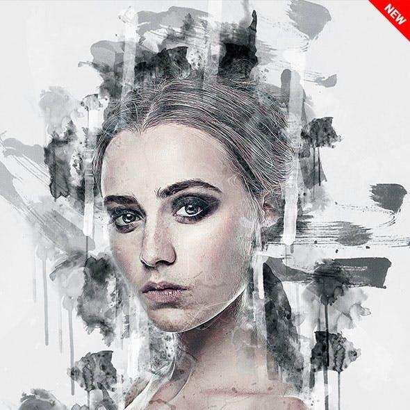 Acrylic - Ink Artist Photoshop Action
