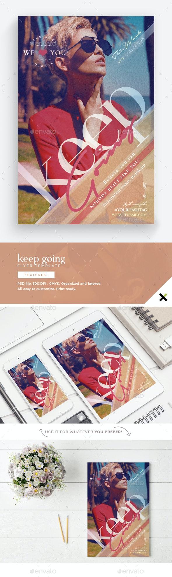 Keep Going Flyer Template - Flyers Print Templates