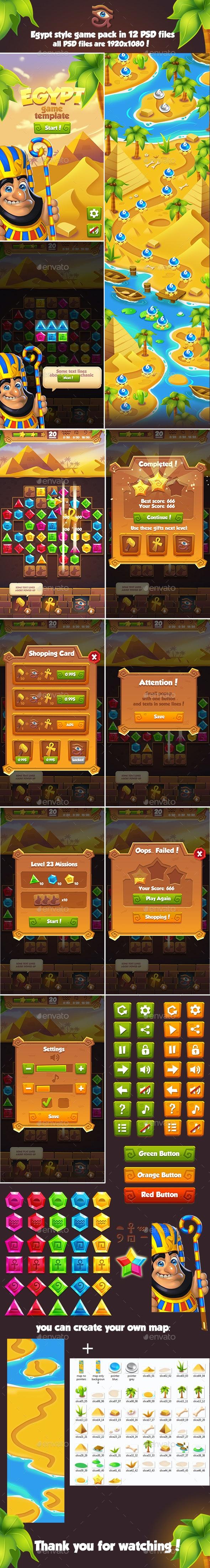 Full Egypt Game Pack - Game Kits Game Assets