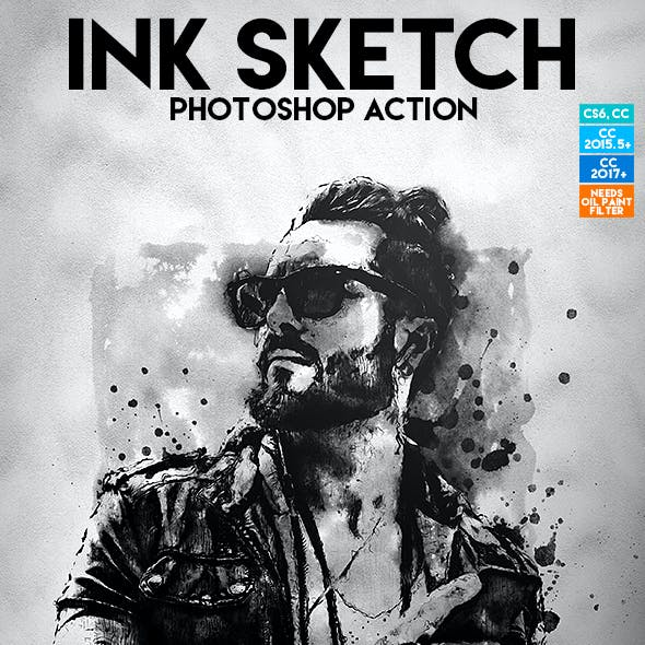 Ink Sketch Photoshop Action