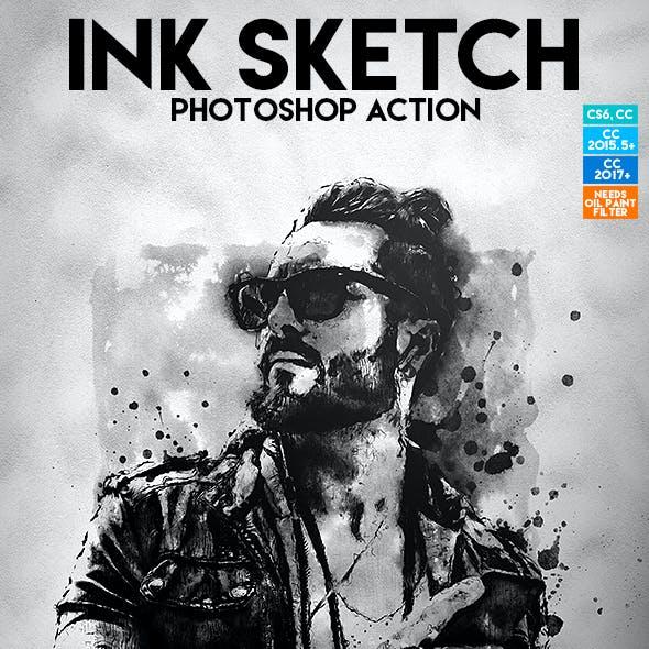 Ink Sketch Photoshop Action