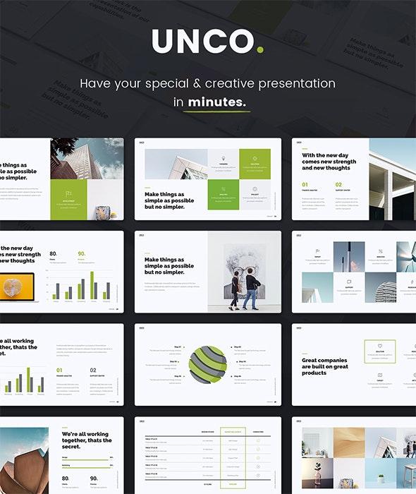 UNCO - Simple Presentation Template (Shift Builder) - Creative PowerPoint Templates