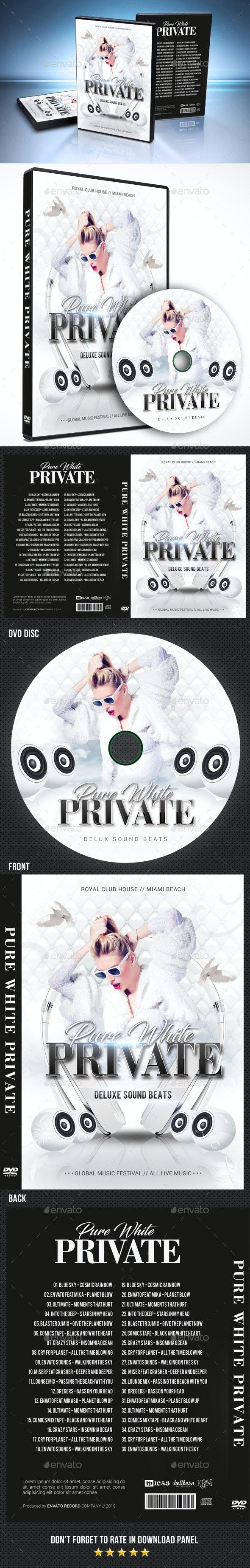 Pure White DVD Cover Template - CD & DVD Artwork Print Templates