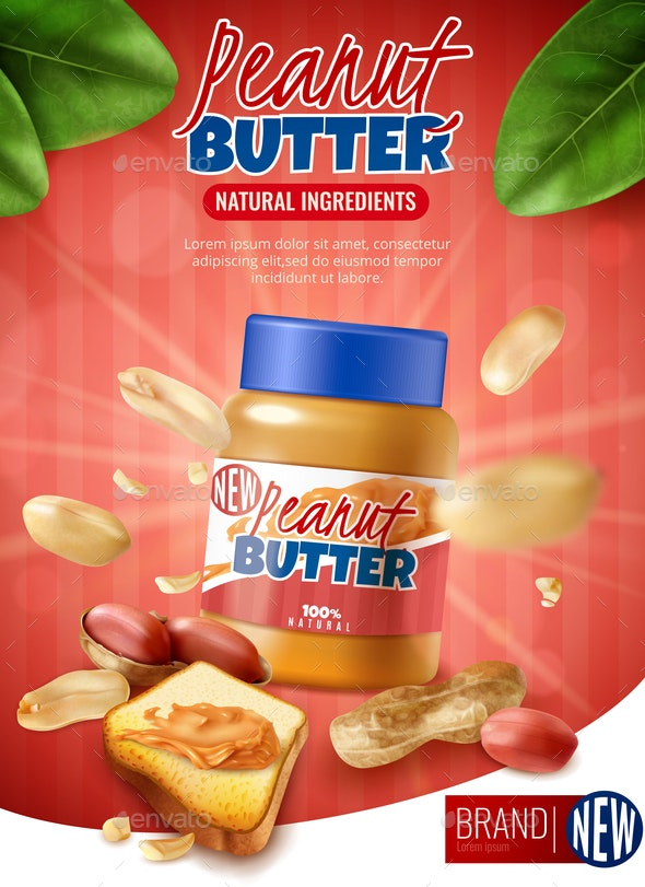 Peanut Butter Poster Ad - Food Objects