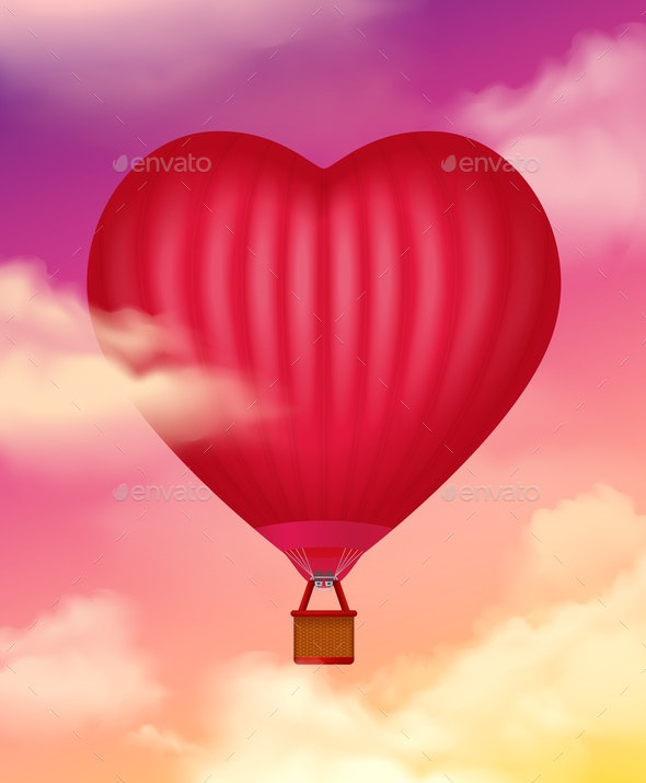Air Baloon Realistic Background - Miscellaneous Vectors