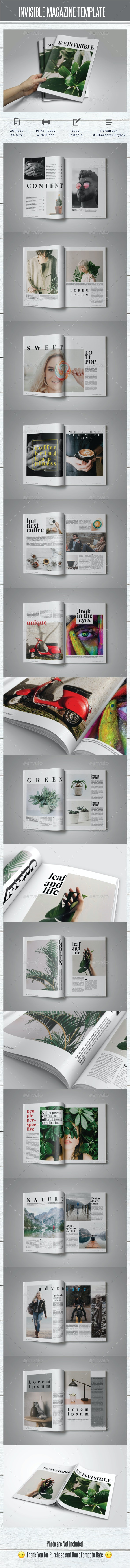 Invisible Magazine Template - Magazines Print Templates