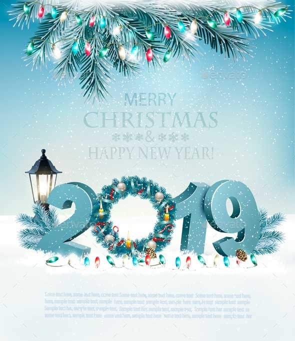 Happy New Year 2019 Background - New Year Seasons/Holidays