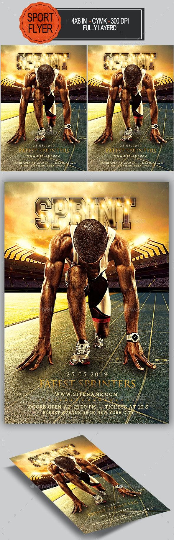 Sprint Run Flyer - Sports Events