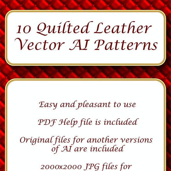 10 Quilted Leather Repeating Adobe Illustrator Patterns