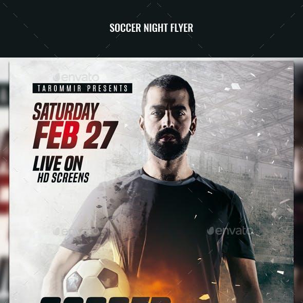 Soccer Night Flyer
